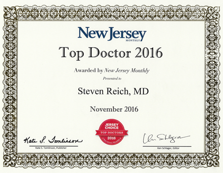2016 Top Doctor - Reich